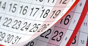 Календар активности за август